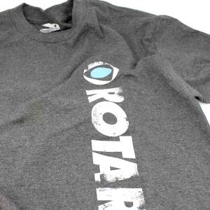 ROTARY13B1 T-SHIRT OLD SCHOOL ROTARY M HEATHER GREY