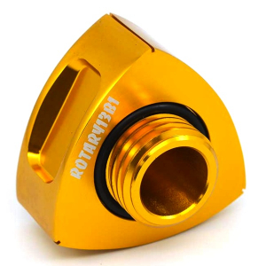 ROTARY13B1 ALUMINIUM ROTOR OIL CAP ANODIZED GOLD 72mm