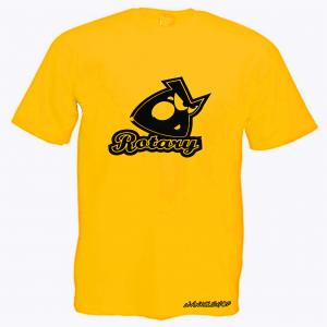 WANKELSHOP ANGRY ROTARY T-Shirt Yellow Carbon