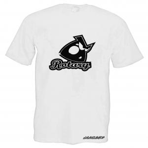 WANKELSHOP ROTARY ENGINE T-Shirt White Carbon