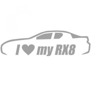 RE DECALS I Love My RX8
