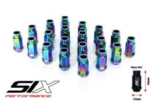 SIX Performance Racing Lug Nuts Set Neo Chrome V2
