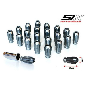 SIX-Performance Racing Radmuttern Set Gun Metall Anti Theft