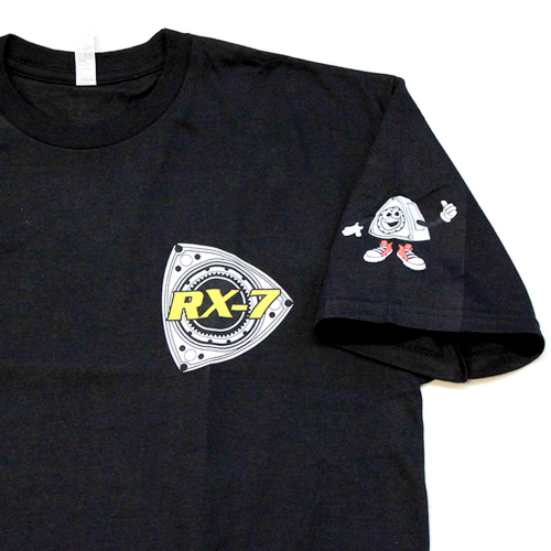 ROTARY13B1 T-SHIRT RX-7 GENERATIONS YELLOW-BLUE-RED