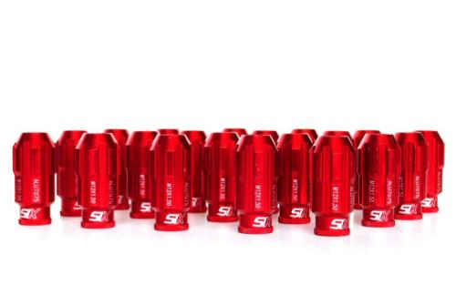 SIX-Performance Racing Lug Nuts Set Red Anti Theft